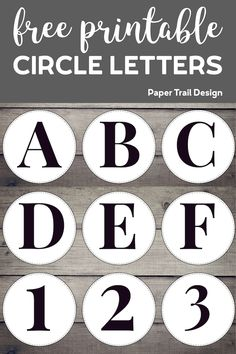 Create a custom garland or sign with our free printable circle banner letters, numbers, and symbols. Perfect for a birthday party, wedding, or photo shoot. Christmas Printables, Party Printables, Free Printables, Free Printable Numbers, Printable Banner Letters, Banner Template, Paper Trail, Custom Banners, Letters And Numbers