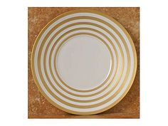 Hemisphere Gold Stripe Presentation Plate by JL Coquet, $374.00