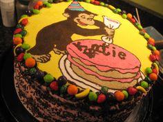 Curious George birthday cake | Keyks Bakery in Massachusetts