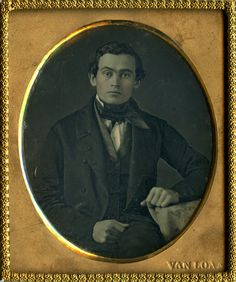 Dashing Handsome Daguerreotype by Samuel Van Loan of Philadelphia Pennsylvania | eBay