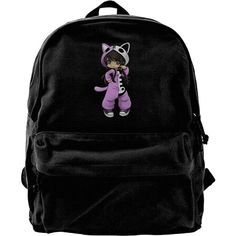 Aphmau Gaming Canvas Backpacks Daypack Laptop Rucksack ❤ liked on Polyvore featuring bags, backpacks, day pack backpack, canvas laptop bag, backpack bags, canvas laptop backpack and canvas knapsack