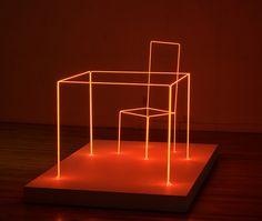 Neon sculpture by Joe Rees by Steve Rhodes, via Flickr