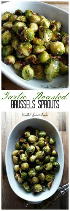 Roasted Brussels Sprouts with olive oil and garlic
