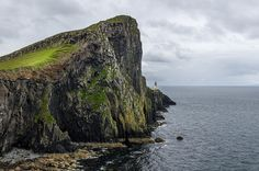 The Lighthouse Neist Point lighthouse is more west of the Isle of Skye (Scotland).