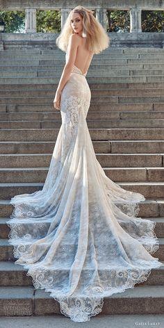 galia lahav fall 2016 bridal sleeveless halter neck sheath lace wedding dress / http://www.himisspuff.com/open-back-wedding-dresses/3/