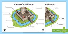 Medieval Castles Floor Plans Fresh Free Castle Parts Labelled Diagram Teacher Made 5th Grade Worksheets, Spelling Worksheets, Printable Preschool Worksheets, Free Worksheets, Castles Ks1, Castles Topic, Day Camp Activities, Chateau Moyen Age, Solar System Worksheets