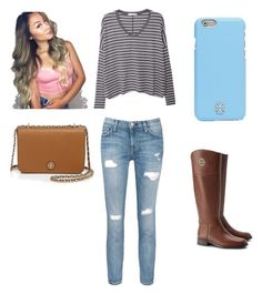 """""""Untitled #2"""" by kellyr868 on Polyvore featuring Current/Elliott, MANGO and Tory Burch"""