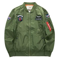bc251f8379fb2 ASSTSERIES Jacket men Pilot man Coat Spring and Autumn hombre Jaqueta Flight  Air Force Baseball army green Kanye West jacket