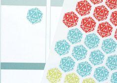 EN01  D20 Twenty Sided Dice Planner Stickers by PopFizzPaper