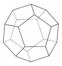Dodecahedron The fourth platonic solid is the Dodecahedron, having 12 pentagonal sides. The Dodecahedron is linked to the ethers or universe and works through the higher Chakras from the 6th Third Eye, 7th Crown, 8th Higher Crown and above.