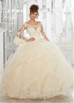 Buy discount Elegant Tulle Off-the-shoulder Neckline Ball Gown Quinceanera  Dresses With Beaded 1065534aa16
