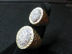 """ELVIS' JEWELRY: custom made """"matching"""" rings for Elvis and Priscilla...THESE ARE THE MATCHING RINGS"""