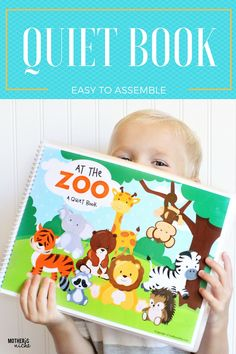 I'm excited to announce another printable quiet book! It's a zoo quiet book and it's adorable! If you aren't in for hours of sewing, this is perfect for you!