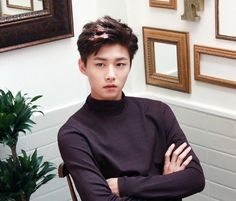 """{fc: seo ji hoon} Henry Woh. An eighteen year old """"maid"""" of sorts. No, he's. It a butler, he's practically a maid. He does everything expected of a maid, from cleaning and tidying, to arranging the rooms and even, especially if called upon, helping guests select their outfits. But no, he doesn't wear the little black and white maid dresses, he wears a suit and is usually found in the main hall of the castle, waiting to be called upon. He can specially requested to help guests with whatever… Maid Dress, No One Loves Me, Man Crush, Boyfriend Material, K Idols, Korean Actors, Cute Boys, Dramas, Actors & Actresses"""