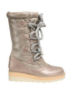 This Silver Cheese 'n' Beans Leather Platform Boot by Irregular Choice is perfect! #zulilyfinds