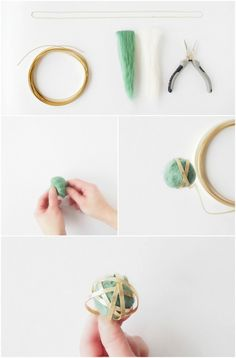 DIY wire and wool pendant and update your outfit, effortless and super quick craft - Lav selv smukke wire og uld smykker