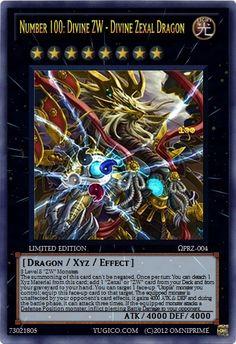 ... Cards Zexal ΩPRZ-004 Number 100: Divine ZW - Divine Zexal Dragon