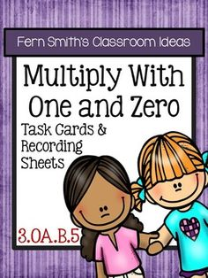 #FREE Multiply With One and Zero Task Cards and Recording Sheets 3.OA.B.5 with a cute Cupcake Theme. #TPT #Freebie