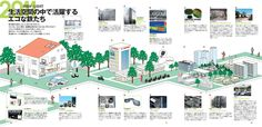 イラストレーター渡辺鉄平/Illustration Boutique/WORKS/Client work/新日本製鐵『環境・社会報告書2012』