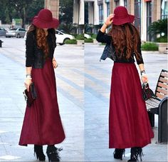 wine red women's vintage retro artistic 3.2 by colorfulday01