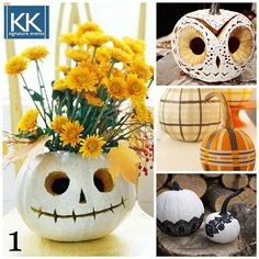 This week we are featuring tips for throwing the best Halloween party ever! Our first tip is to put a twist on the classic pumpkin decorations #partyplanning #pumpkins #halloween #halloweenparty #fall