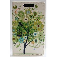 Lumia 520 vihreä puu lompakkokotelo. Nokia Lumia 520