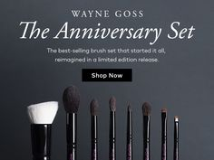THE MUST HAVE Wayne Goss The Anniversary Set-THE Bestselling Brush Set that started it all....reimagined in a NEW Limited Edition #Beautylish Exclusive Release. This is everything you need to master the art of eye and face technique. These brushes are the creme de la creme, artfully and expertly crafted for perfect application. So soft, yet with the perfect firmness and flexibility. Check out the lookbook I posted to learn more about each gorgeous brush! Once you use a Goss…