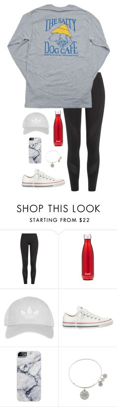 """""""Ootd"""" by eadurbala08 ❤ liked on Polyvore featuring adidas, Hanes, S'well, Topshop, Converse and Alex and Ani"""