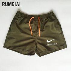 1838a99f4f17 2018 New Shorts Men Summer Beach JUST BREAK IT printing Shorts Hommemodkily  Casual Shorts