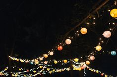 paper lantern receptions - photo by Sara Wilde http://ruffledblog.com/pucks-farm-wedding