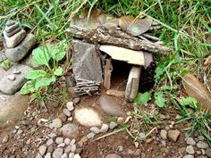 fairy cottage:  hunt for twigs and interesting leaves and bits of nature to make into a tiny little house