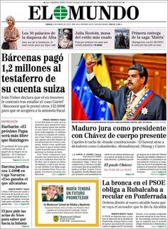 Los Titulares y Portadas de Noticias Destacadas Españolas del 9 de Marzo de 2013 del Diario El Mundo ¿Que le pareció esta Portada de este Diario Español?