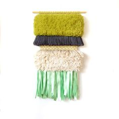 MADE TO ORDER  Furry Pistachio // Handwoven Tapestry by jujujust, $260.00