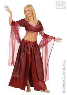 Laissez-vous emporter par les plus jolies musiques orientales et dansez ! Tous les autres invités seront totalement subjugués par vos mouvements grâce à ce déguisement de danseuse du ventre.