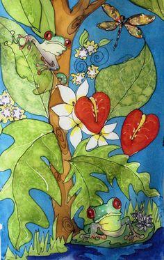 Silk Painter Yvonne Feavearyear