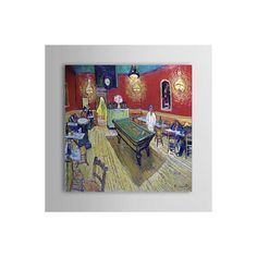 [$111.99] Hand Painted Modern Wall Art Oil Painting A Night Cafe by Van Gogh - Free Shipping