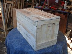 Primitive Wood Box, Storage Chest, Trunk, Wooden Box, Crate, Toy Box Style 91