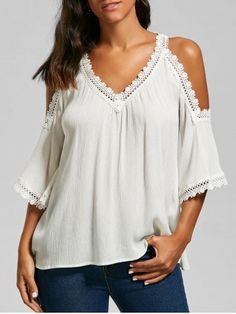 GET $50 NOW | Join RoseGal: Get YOUR $50 NOW!https://www.rosegal.com/blouses/laced-cold-shoulder-top-1193528.html?seid=10890959rg1193528