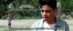 "The Sandlot ""yeah yeah but but..."" ""But your part of the game right?"" ""yeah.."" ""well so is he so base up you blockheads"""
