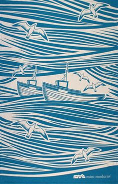 Whitby tea towel. this is a tea towel pattern? how pretty!