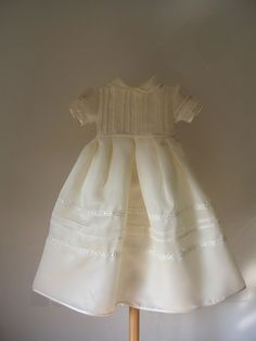 Delicate: handmade christening gown with bonnet  by ExquisiteDesignRS in DaWanda.com