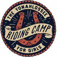 Riding Camp logo by Dan Cassaro Graphic Design Typography, Lettering Design, Graphic Design Illustration, Logo Design, Typography Inspiration, Design Inspiration, Western Logo, Camp Logo, Cool Coasters