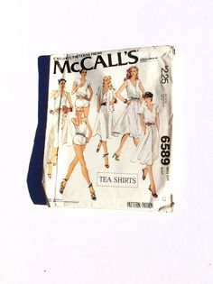 McCall's 6589 Women's Top Vest Skirt and Shorts by DonnaDesigned