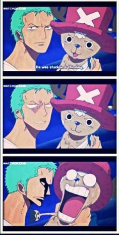 Zoro and Chopper - This part was hilarious!! xD