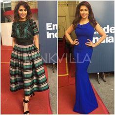 Celebrity Style,madhuri dixit,ami patel,Pankaj and Nidhi,Theia couture