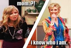 iCarly... i screamed when i say jane lynch was playing her mom