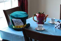 Someone lose their hat? Alice Tea Party, Wonderland, Hat, Mugs, Tableware, Chip Hat, Dinnerware, Tumblers, Tablewares
