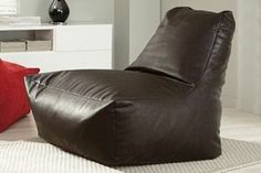 Brown Faux Leather Lounger