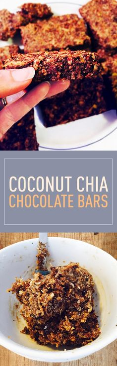 The absolute best thing about the Coconut Chia Chocolate Bars is that everyone in my family loves them. My daughter gobbles them up and I don't have mom guilt afterwards about her eating something bad- these are loaded with almond flour for protein chia seeds for omega-3's and antioxidants and dates are great for digestive health.