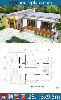 haus House Plans Full Plan - Sam House Plans Vinyl Glove Information And Sizing Recome Sims House Plans, Dream House Plans, Small House Plans, Dream Houses, Dog Trot House Plans, Bungalow House Design, Tiny House Design, Modern House Design, 2 Bedroom House Design